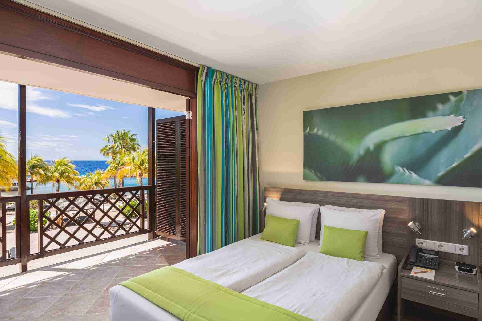 Ocean Front Room at LionsDive Beach Resort | Dive Travel Curacao
