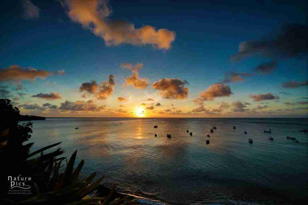 Sunset at All West Apartments and Diving Curacao
