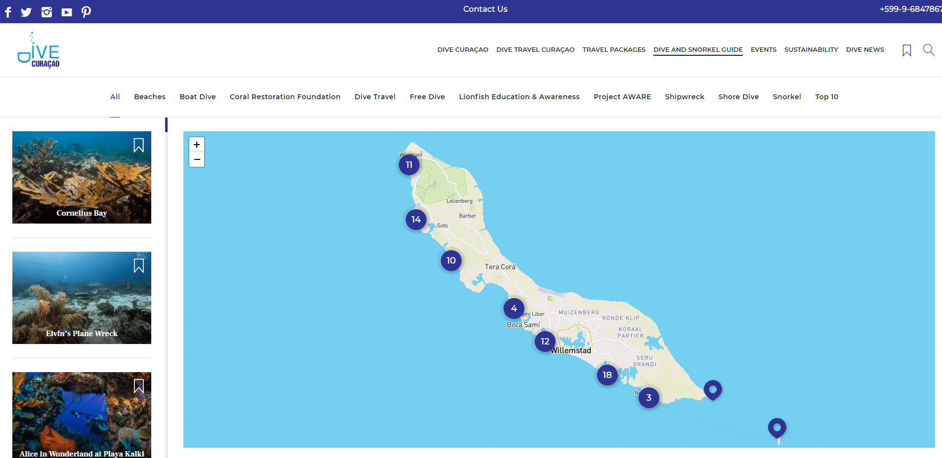 Curacao Dive Guide and Interactive Map | Dive Curaçao