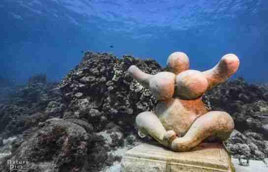 Underwater Sculpture of Chichi Curacao